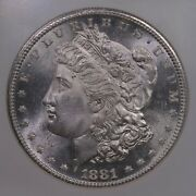 1881-s Morgan 1 Ngc Certified Ms67 San Francisco Minted Silver Dollar Coin