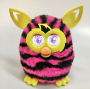 Furby Boom 2012 Hasbro Interactive Electronic Pink/black Stripes Yellow Accents
