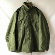 M-65 Us Army M65 1967 Aluminum Zip Field Jacket 2nd Size M-s