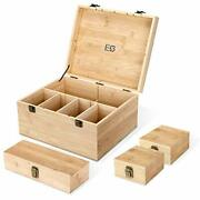 Wooden Box With Hinged Lid - Extra Large Decorative Storage Boxes With Lids