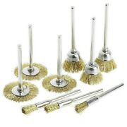 Workshop Wire Brush 45pcs Brass Cleaning Cup Deburring Drills Set Stroke