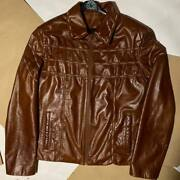 Dsquared2 Leather Jacket Cowboy Country Edition