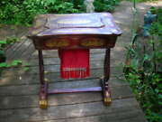 Lovely Important Antique 1840and039s Chinese Chinoiserie Sewing Table W/provenance