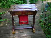 Lovely Important Antique 1840's Chinese Chinoiserie Sewing Table W/provenance