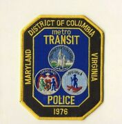 Metro Transit Police Maryland District Of Columbia Dc Virginia 5 Cloth Patch