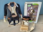 Gemmy Life Size 5ft Animated Singing Skeleton New Open Box - 4 Songs Microphone