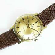 Omega Automatic At Ss Gold Dial Vintage From Japan Fedex No.1851