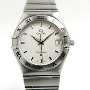 Omega Constellation Quartz Ss White Dial 1512.30 Previously Owned No.3041