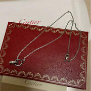 Love Necklace White Gold Christmas Only Diamond Ceramic No.5277