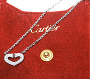 New Metal Fitting Heart Diamond Wg Necklace From Japan No.5395