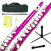 Sky C Flute With Lightweight Case Cleaning Rod Cloth Joint Grease And Screw D...
