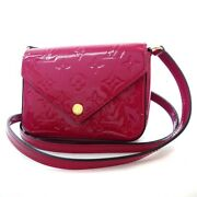 Louis Vuitton Sack Lucy Verni Shoulder Bag Women And039s Rose Andian Pink No.8995