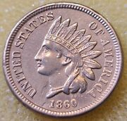 1860 Indian Head Cent Rounded Bust Copper-nickel