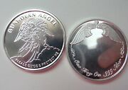 Guardian Angel Pocket Coin 1 Oz Fine .999 Silver Free Personalized Engraving
