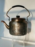 Odi Hammered/dimpled Copper/brass Tea Kettle/teapot Made In India