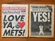 Ny Mets World Series Champs, Oct 28, 1986, New York Post Daily News Newapaper