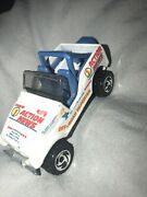 Die Cast Rare Action News Jeep Car White And Ble Standard Hotwheel Size