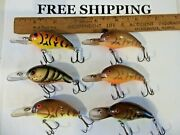 Lot Of 6 Some Are Pre-pradco Bandit 200 Series Crankbaits Some Tuff Colors Lures