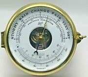 Schatz Brass Ships Precision Barometer And Thermometer Made In West Germany