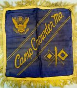 Camp Crowder Missouri Vintage Wwii Pillow Cover Sham Military Us Army