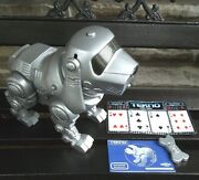 Vintage Tekno The Robotic Puppy Manley Toy Quest Ownerand039s Manual Bone Game Works