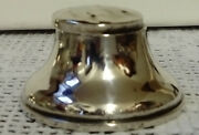 Antique Solid Silver Ladies Capstan Inkwell Original Liner. Lid Is Dented. 1913