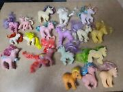 1980and039s Hasbro My Little Pony G1 Figure Lot Of 18 1982 1983 1984 1986 1987