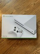 New Microsoft Xbox One S 1tb White Gaming Console With Controller