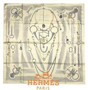 Hermes Well-dressed Etude Carre 90 Sold-out Scarves Free Shipping No.9839