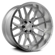 Axe Ax6.1 Compression Forged Wheels 22x12 -44 5x139.7 Silver Rims Set Of 4
