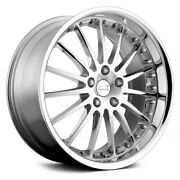 Coventry Whitley Wheels 20x10 25 5x108 63.4 Chrome Rims Set Of 4