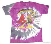 Metallica Vintage Tie Dye T Shirt Early 90and039s Heavy Metal Rock Band Xl