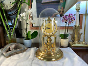 Vintage Kern Foreign Large Glass Dome Clock Rare Gorgeous Clock