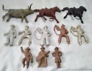 Marx Roy Rogers Toys Playset Double R Bar Ranch House W/ Figures And Animals