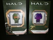 Chibi Halo Master Chief 1 And 2 Cortana 1oz Silver .999 Coin Niue 2 Nz Mint Unc