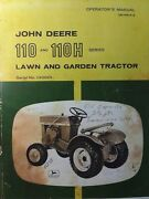 John Deere 110 Round Fender Lawn Garden Tractor Owner And Parts Manual 40000- L5