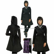 Disney The Nightmare Before Christmas Jack Lined Black Hooded Trench Coat Jacket