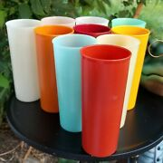 Vintage Tupperware 16oz Tall Tumblers 6 Pastel 4 Fall Cups 107 Set Of 10