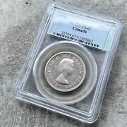 ✪ 1956 Canada 50 Cent Silver Coin One Dollar Proof Pcgs Gem Pl 67 Old Holder