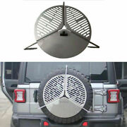 Fits For Lr Defender 110 90 2020 2021 Stainless Steel Bbq Spare Tyre Tire Cover