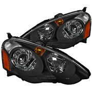 For Acura Rsx Black Housing Clear Lens Retro Style Projector Headlights