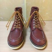 90s Made In Usa Chippewa 29493 Work Boots Red Tea Vibram 8.5