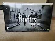 New Xbox 360 Beatles Rock Band Limited Edition Bundle Drums Guitar Game Mic Rare