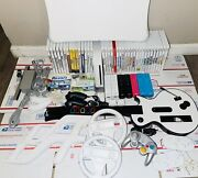 Nintendo Rvl-001 Wii White Console W/ Multiple Remotes And 40 Games +extras-tested