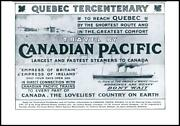 1908 Advertising Canadian Pacific Railway Steamers Quebec Tercentenary 05