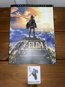 The Legend Of Zelda Breath Of The Wild The Complete Official Guide W/ Poster