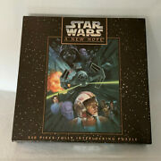 Mb -- Star Wars A New Hope -- 550pc Jigsaw Puzzle 18x24 Vintage 1995 New