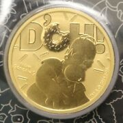 Tuvalu 2020 Homer Simpson 100 1oz .9999 Fine Gold Coin Low Mintage B282