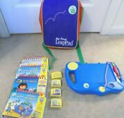 My First Leappad Learning System W/bag 4 Games And Books--free Shipping