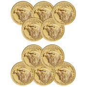 2021 1/10 Oz American Gold Eagle Coin - Type 2 - Bu - 5   Lot Of 10